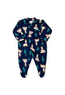 Macacão Pijama Bebê Ano Zero Microsoft Estampado 21 - Marinho
