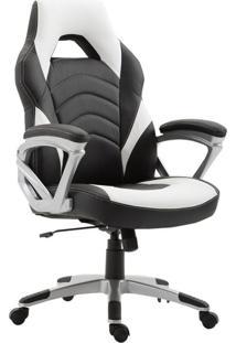 Cadeira De Escritório Gamer Presidente Jinx Preta E Branca