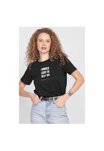 Camiseta Colcci I Would Love To But No Preta