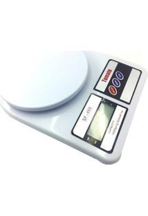 Balança Digital De Cozinha Tomate Sf-400 10Kg Branco