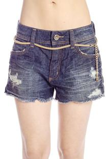 Shorts Destroyed Com Cinto Colcci