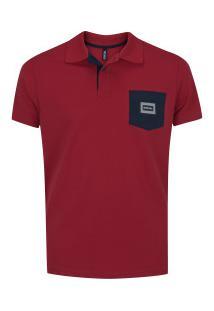 Camisa Polo Fatal Estampada 24422 - Masculina - Vermelho