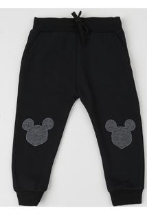 Calça De Moletom Mickey Mouse Preta