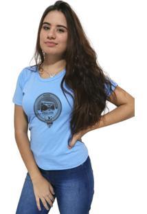 Camiseta Feminina Cellos Boom Box Premium Azul Claro - Kanui