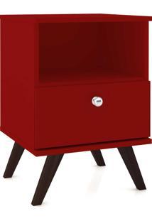 Mesa De Cabeceira C/1 Gaveta Mã³Vel Bento Vermelho - Vermelho - Dafiti