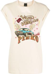 Pinko Camisa Com Detalhe De Aplicação - Neutro
