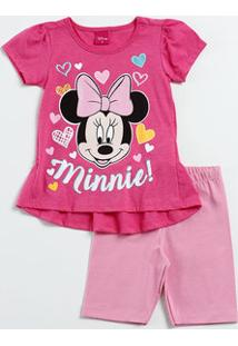 Conjunto Infantil Estampa Minnie Disney