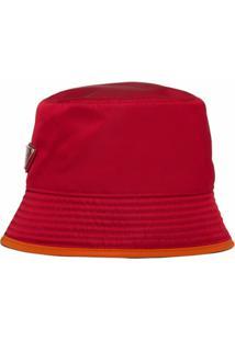 Prada Chapéu Dupla Face De Nylon - Vermelho