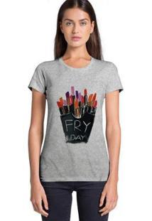 Camiseta Joss Feminina Estampada Friday - Feminino-Mescla