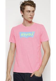 "Camiseta ""Levi'Sâ®"" - Rosa Neon & Verdelevis"