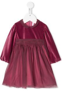Il Gufo Vestido Evasê Com Sobreposição - Rosa