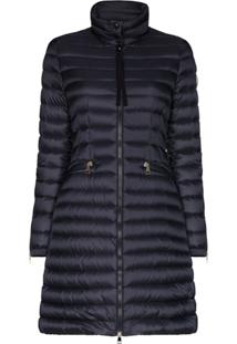 Moncler Sable Quilted Down Coat - Azul