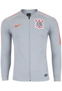 Jaqueta De Treino Do Corinthians 2018 Nike - Masculina - Cinza Cla/Laranj Esc