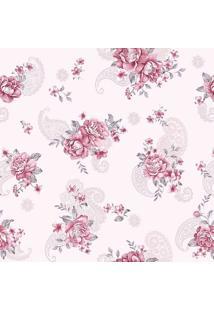 Papel De Parede Floral- Rosa Escuro & Rosa Claro- 30Jmi Decor