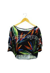Camiseta Colcci Estampada Feminina Colcci Preto