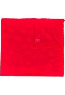 Alexander Mcqueen Cachecol Com Poás - Vermelho