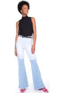 eb213727ae Calça Jeans Recorte Com Tonalidades