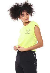 Camiseta Cropped Volcom And On Amarela