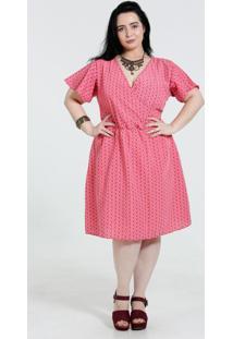 Vestido Feminino Estampa Paisley Plus Size