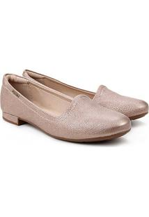 Sapatilha Modare Slipper Com Textura Feminina - Feminino-Ouro