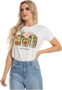 Camiseta Up Close Beer Branco - Kanui