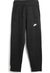 Calça Nike Menino Logo Preta