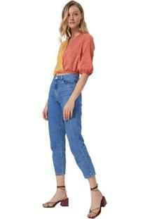 Calça Jeans Slim Cintura Alta