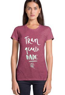 Camiseta Feminina Joss Tranquilidade Bordo