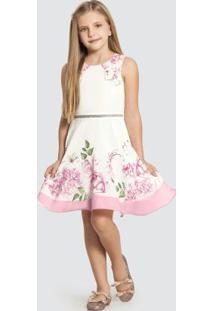 Vestido Tecido Crepe Chifon Branco