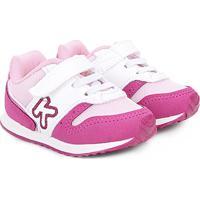 2f13b6232be Tênis Infantil Klin Velcro Mini Walk Menina - Feminino-Rosa+Pink