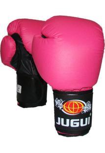 Luva Jugui Combate Boxe Ecocouro 06-18Oz Rosa