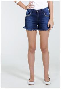 Short Juvenil Jeans Tachas Marisa