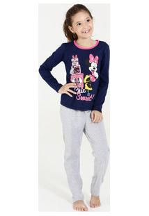 bada4b59b Pijama Infantil Estampa Minnie Manga Longa Disney