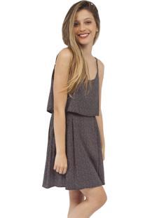 Vestido Bluni Amaranto Bolinhas Preto
