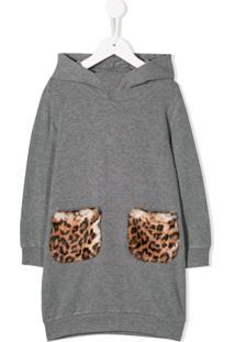 Il Gufo Vestido Suéter Mangas Longas - Cinza