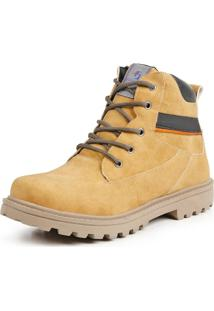Bota Casual Dhl Calçados Masculina Amarela