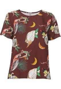 Camiseta Colcci Estampada Vinho - Kanui