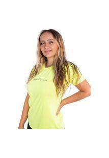 Camiseta Birdz Estampada Amarelo Neon