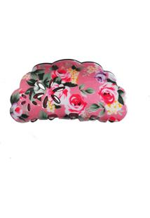 Presilha Acrílico Ania Store Floral Rosa - Tricae