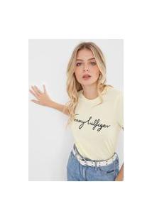 Camiseta Tommy Hilfiger Graphic Amarela