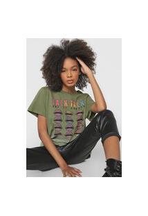 Camiseta Colcci Talk Verde
