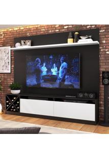 Estante Para Tv Até 65 Polegadas 2 Portas 2022 Ptx/Bac Preto/Branco - Quiditá Móveis