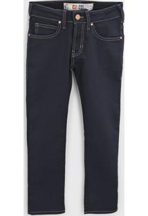 Calça Jeans Colcci Fun Infantil Pespontos Azul-Marinho