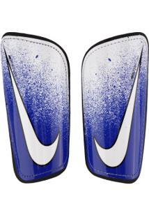 Caneleira De Futebol Nike Mercurial Hard Shell - Adulto - Branco/Azul