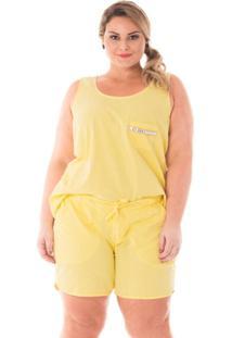 Regata Confidencial Extra Plus Size Com Aplicação De Pedraria Feminina -  Feminino-Amarelo Claro f138ff1a2ed