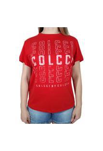 Camiseta Colcci Logo Vermelho