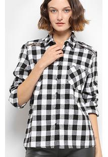 Camisa Xadrez Facinelli Ilhós Bolso Feminina - Feminino ir para a loja 284b8e1ecc8b8