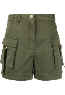 Balmain Utility Pockets Shorts - Verde