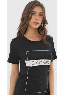 Camiseta Calvin Klein Logo Preta