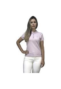 Camiseta Hifen Polo Feminina Roxa